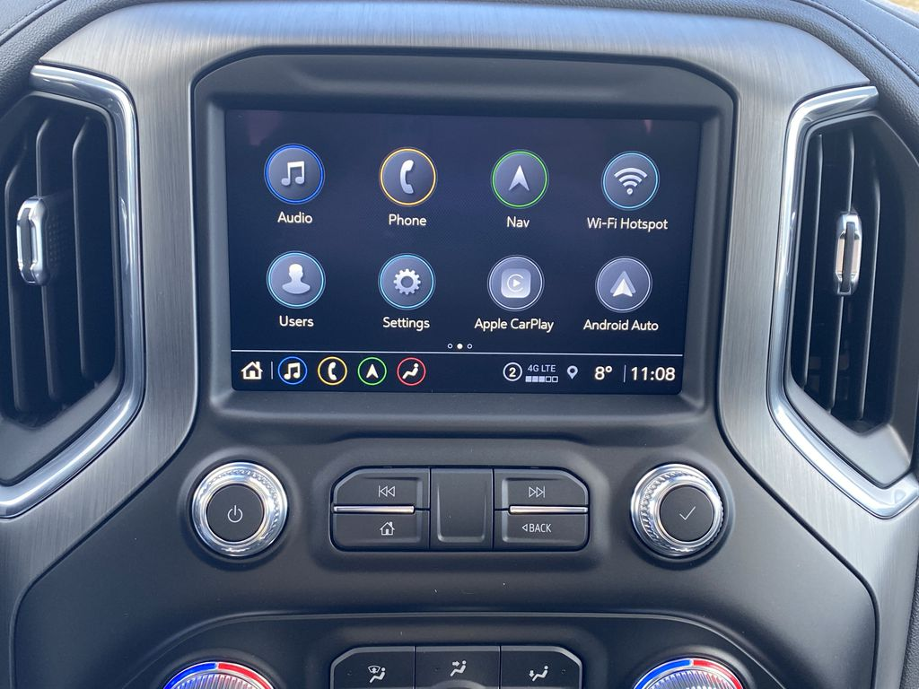 White[White Frost Tricoat] 2021 GMC Sierra 1500 Central Dash Options Photo in Edmonton AB