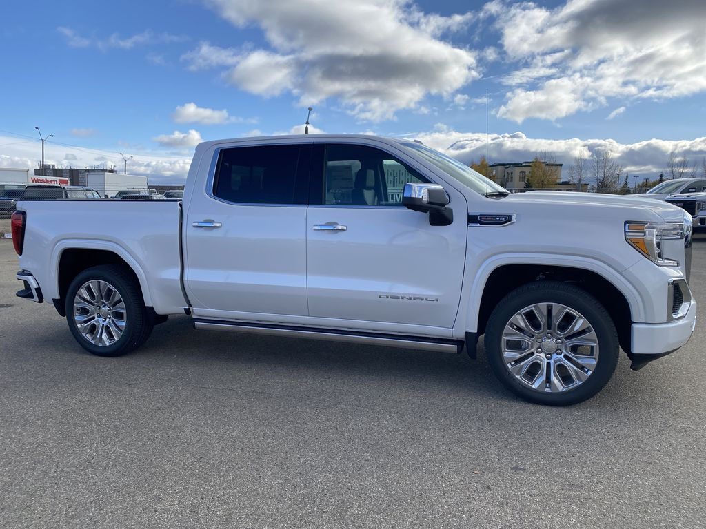 White[White Frost Tricoat] 2021 GMC Sierra 1500 Right Side Photo in Edmonton AB