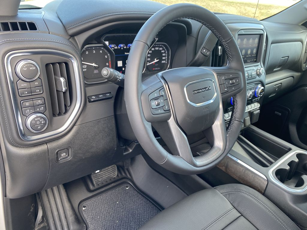 White[White Frost Tricoat] 2021 GMC Sierra 1500 Steering Wheel and Dash Photo in Edmonton AB