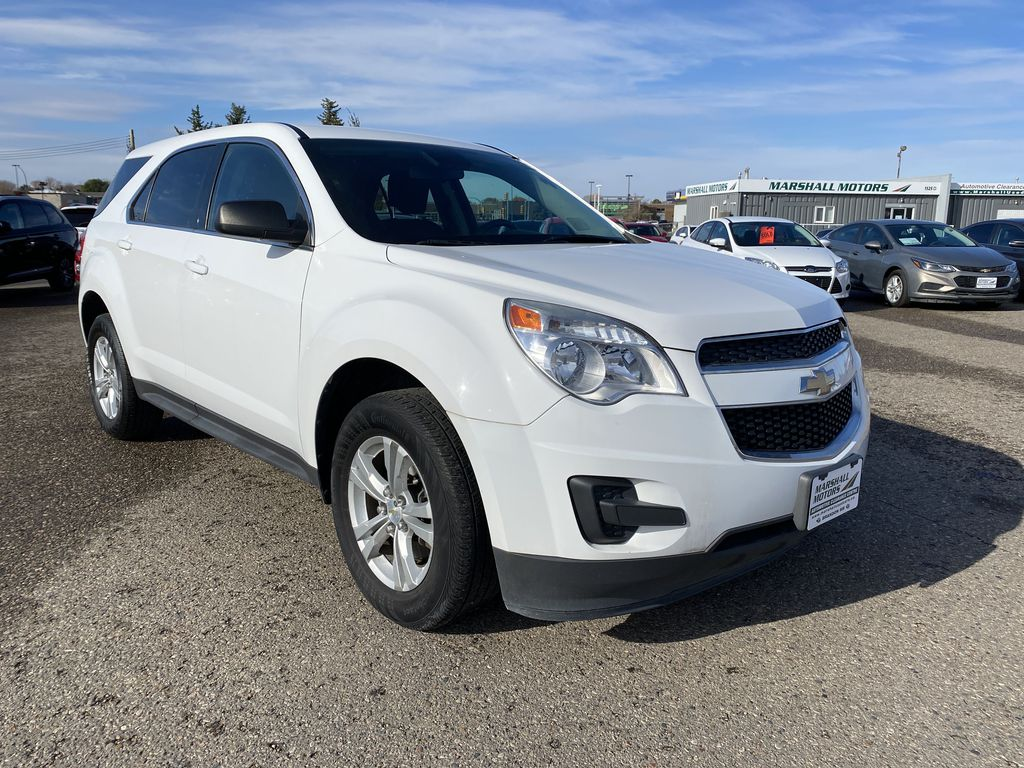 White 2013 Chevrolet Equinox FWD 4dr LS  *Low KMS**MP3 Capability**Cruise Control* Right Front Corner Photo in Brandon MB