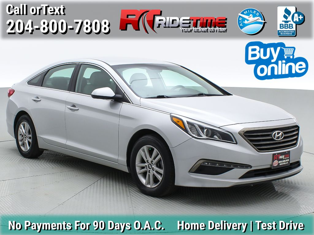 Silver[Platinum Silver Metallic] 2015 Hyundai Sonata GL - Heated Seats, Backup Camera, Bluetooth