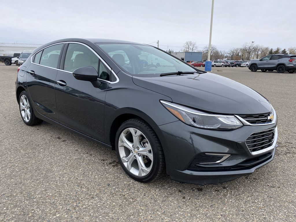 Gray 2018 Chevrolet Cruze 4dr HB 1.4L Premier w/1SF *Back-Up Cam**Heated Seats**Bluetooth* Right Front Corner Photo in Brandon MB