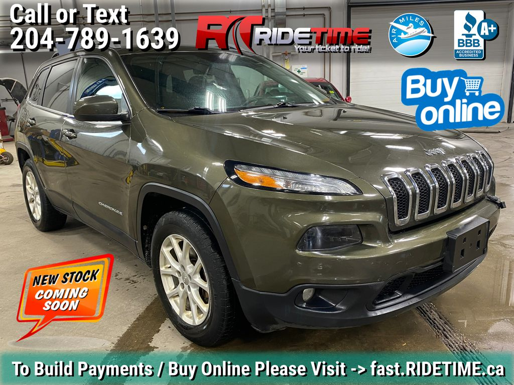 Green[Eco Green Pearl] 2015 Jeep Cherokee North 4WD - 8.4in Uconnect, Remote Start, Pwr Liftgate