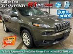 Green[Eco Green Pearl] 2015 Jeep Cherokee North 4WD - 8.4in Uconnect, Remote Start, Pwr Liftgate Primary Listing Photo in Winnipeg MB