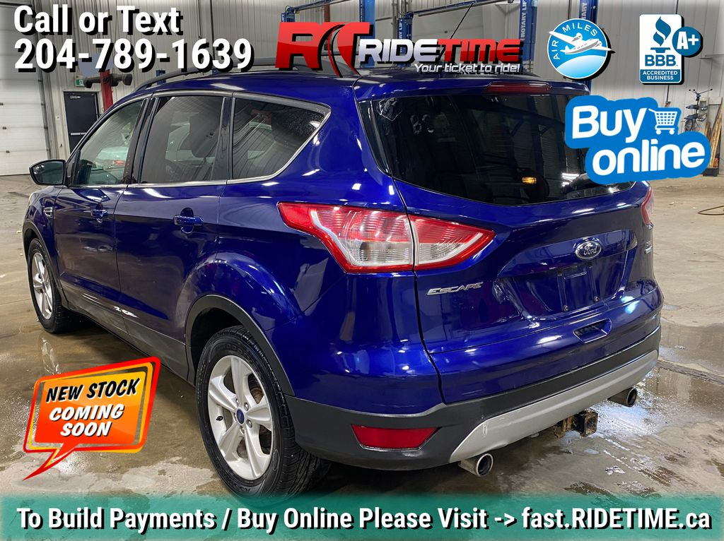 Blue[Deep Impact Blue] 2013 Ford Escape SE 4WD - 2.0L EcoBoost, MyFord Touch, Heated Seats Left Rear Corner Photo in Winnipeg MB