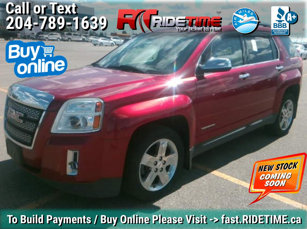 Red[Crystal Red Tintcoat] 2013 GMC Terrain SLT-2 AWD - Leather, Sunroof, Navigation, Pwr Liftgate