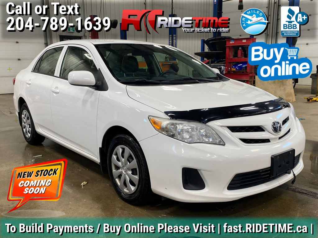 White[Alpine White] 2013 Toyota Corolla CE - Auto, Power Windows / Locks, Heated Seats
