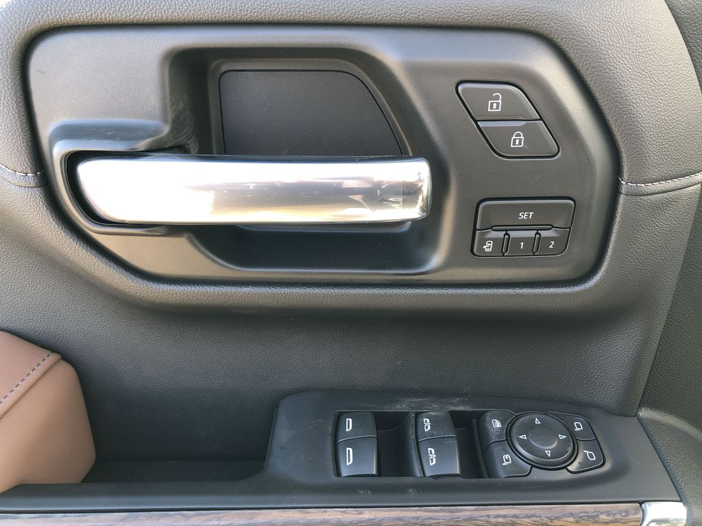 White[Iridescent Pearl Tricoat] 2021 Chevrolet Silverado 1500  Driver's Side Door Controls Photo in Edmonton AB