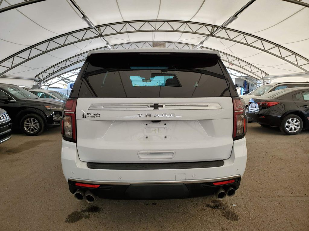 White 2021 Chevrolet Tahoe Right Rear Corner Photo in Airdrie AB
