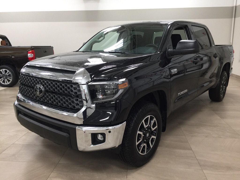 Black[Midnight Black Metallic] 2021 Toyota Tundra TRD Off-Road Left Front Corner Photo in Sherwood Park AB
