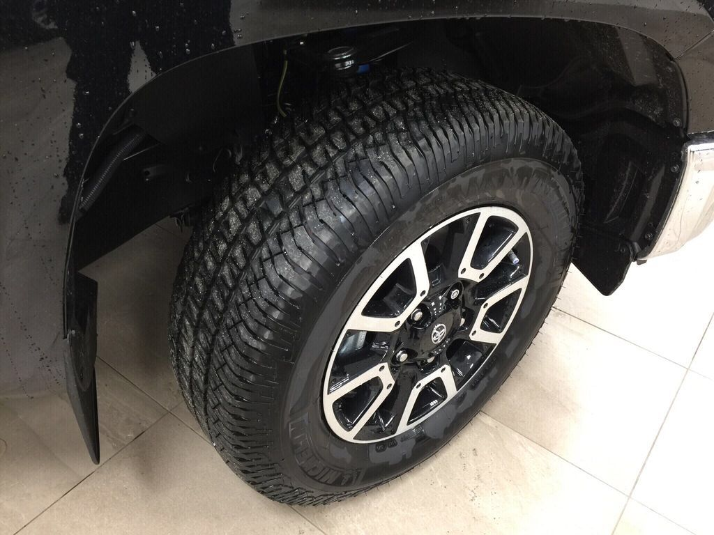 Black[Midnight Black Metallic] 2021 Toyota Tundra TRD Off-Road Right Front Rim and Tire Photo in Sherwood Park AB