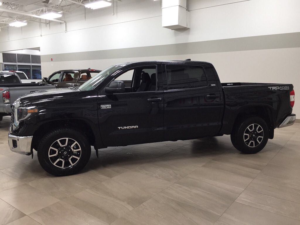 Black[Midnight Black Metallic] 2021 Toyota Tundra TRD Off-Road Left Side Photo in Sherwood Park AB