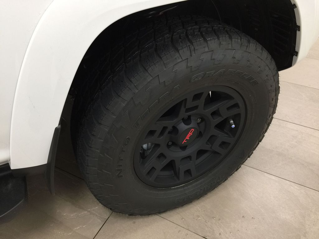 White[Blizzard Pearl] 2020 Toyota 4Runner TRD Pro Right Front Rim and Tire Photo in Sherwood Park AB
