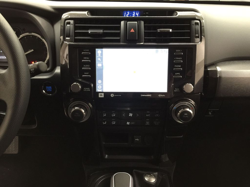 White[Blizzard Pearl] 2020 Toyota 4Runner TRD Pro Central Dash Options Photo in Sherwood Park AB