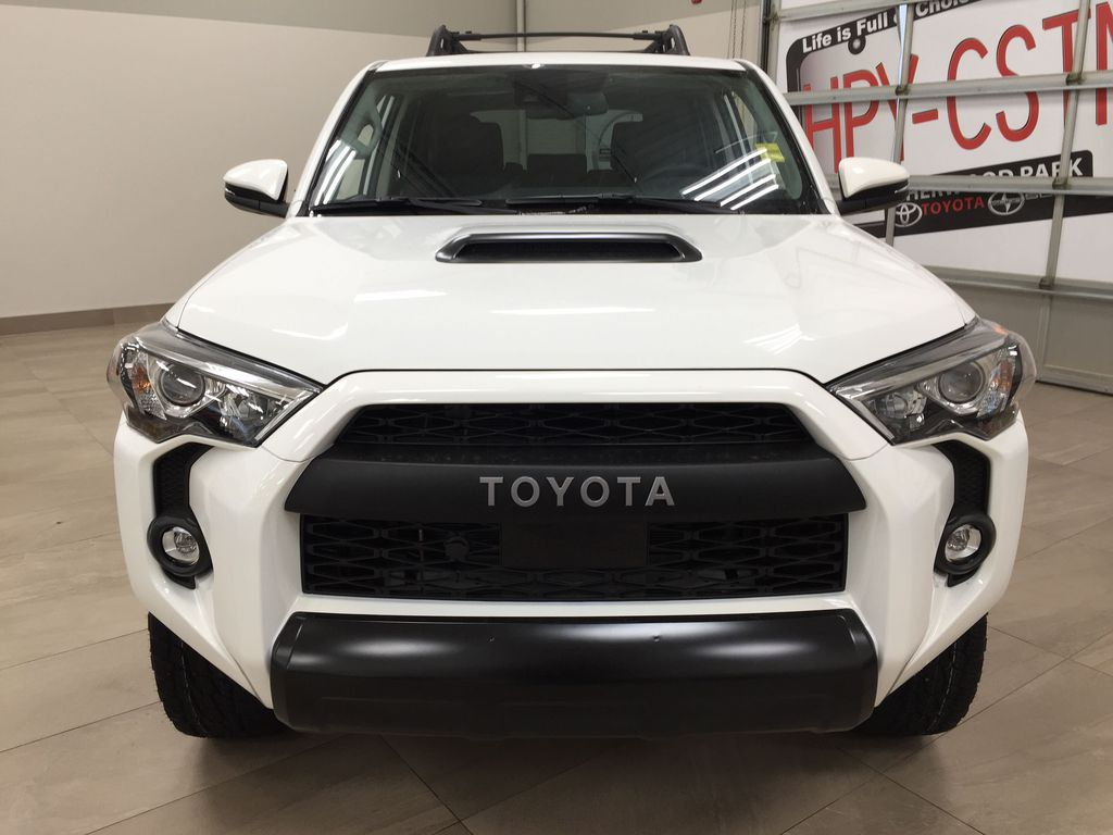 White[Blizzard Pearl] 2020 Toyota 4Runner TRD Pro Front Vehicle Photo in Sherwood Park AB