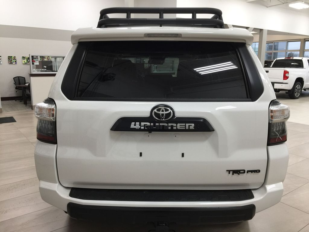 White[Blizzard Pearl] 2020 Toyota 4Runner TRD Pro Rear of Vehicle Photo in Sherwood Park AB