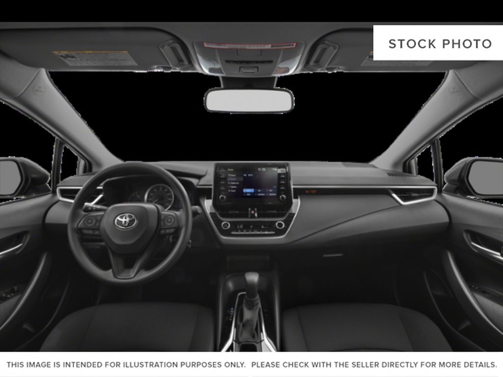 White[Super White] 2021 Toyota Corolla Front Seats and Dash Photo in Edmonton AB