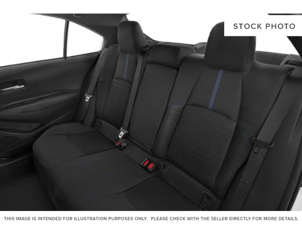 White[Super White] 2021 Toyota Corolla Rear Seat Photo in Edmonton AB