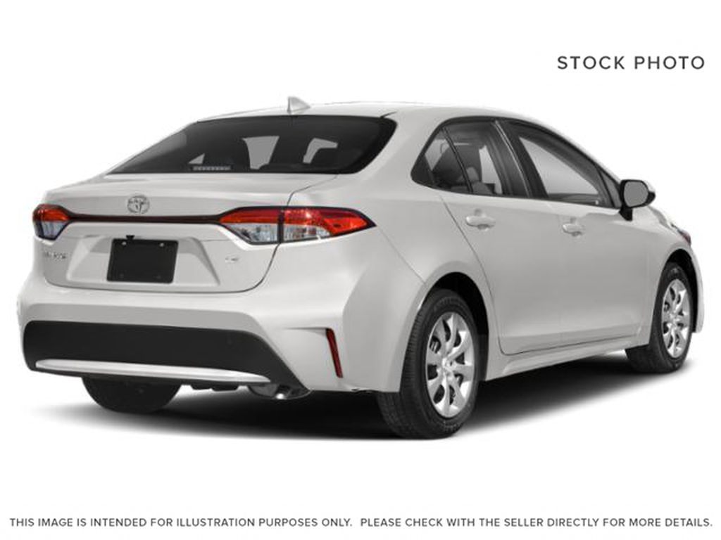 White[Super White] 2021 Toyota Corolla Right Rear Corner Photo in Edmonton AB