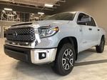 Cement Grey Metallic 2021 Toyota Tundra 4WD Crewmax TRD Off Road Left Side Rear Seat  Photo in Edmonton AB