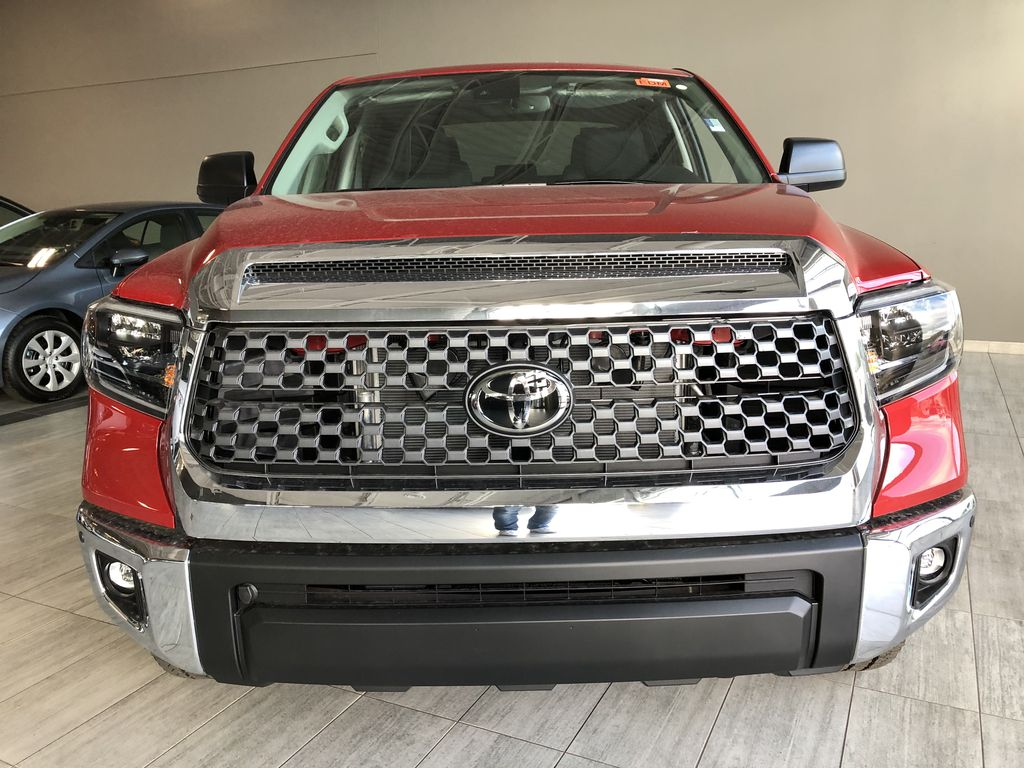 Barcelona Red Metallic 2021 Toyota Tundra 4WD Crewmax TRD Off Road Odometer Photo in Edmonton AB