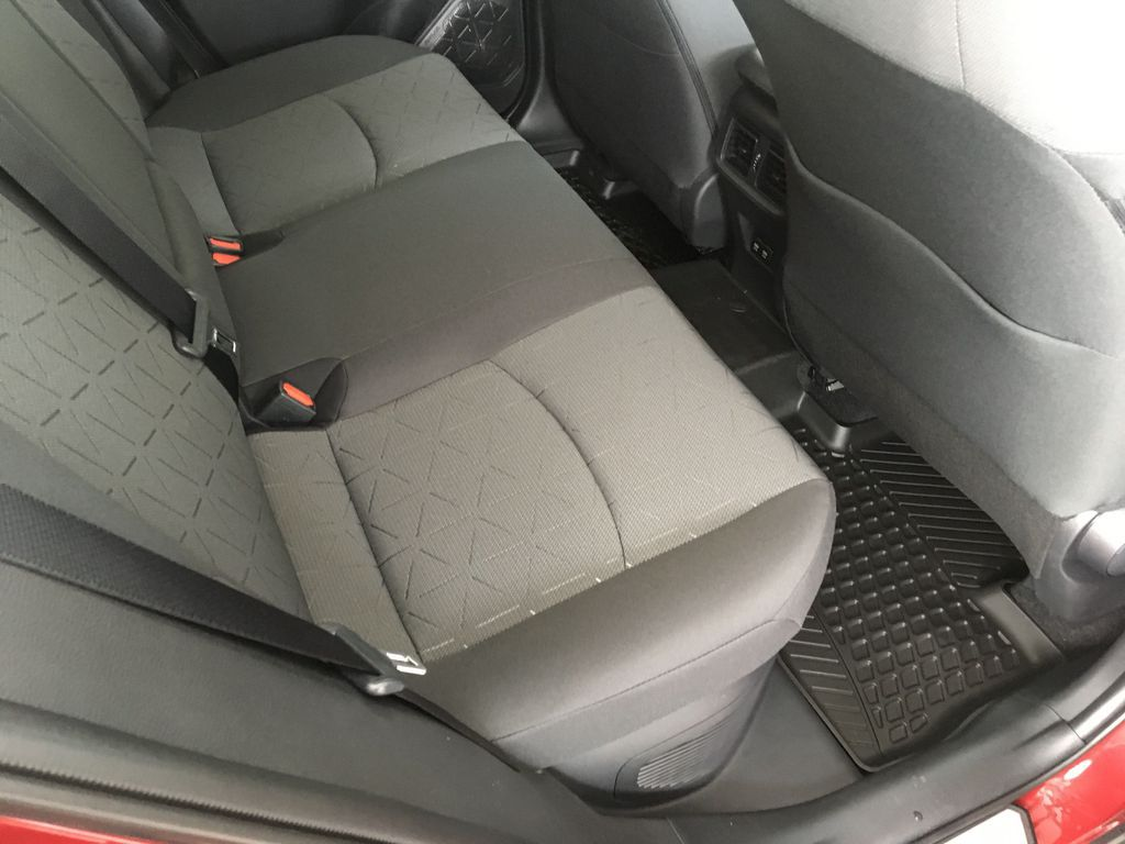 Red[Ruby Flare Pearl] 2021 Toyota RAV4 Hybrid  XLE Left Side Rear Seat  Photo in Kelowna BC