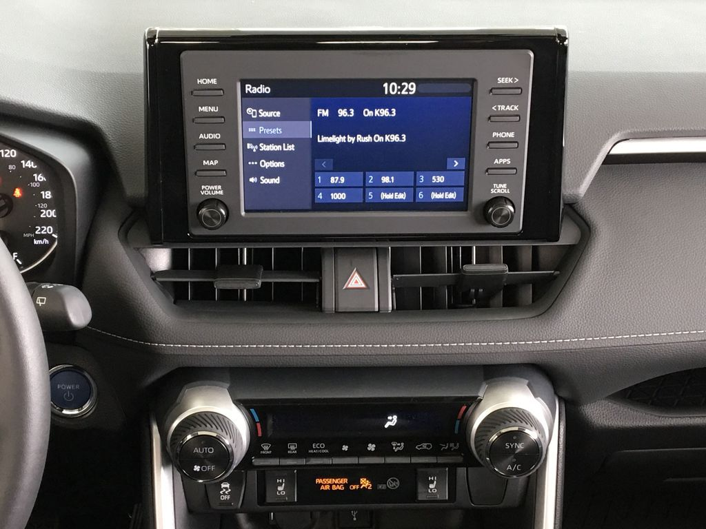 Red[Ruby Flare Pearl] 2021 Toyota RAV4 Hybrid  XLE Central Dash Options Photo in Kelowna BC