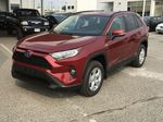 Red[Ruby Flare Pearl] 2021 Toyota RAV4 Hybrid  XLE Left Front Corner Photo in Kelowna BC