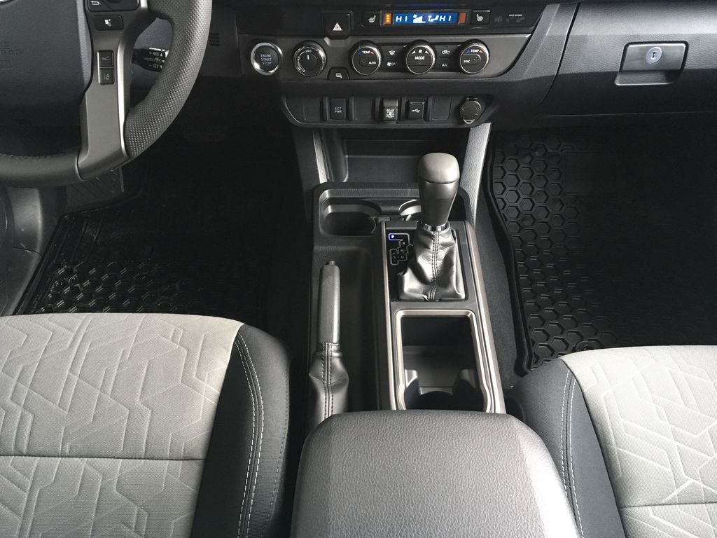 White[Super White] 2020 Toyota Tacoma TRD Off Road Center Console Photo in Kelowna BC