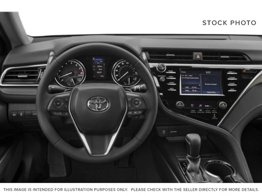 White[Super White] 2020 Toyota Camry Left Front Interior Photo in Brockville ON