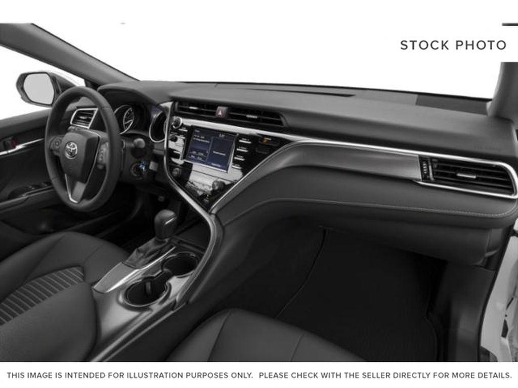 White[Super White] 2020 Toyota Camry Steering Wheel and Dash Photo in Brockville ON