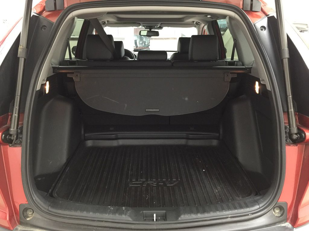 Red[Molten Lava Pearl] 2019 Honda CR-V Touring AWD Cargo Area/Rear Seats Photo in Sherwood Park AB