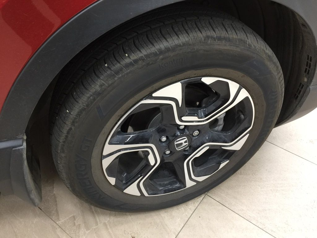 Red[Molten Lava Pearl] 2019 Honda CR-V Touring AWD Right Front Rim and Tire Photo in Sherwood Park AB