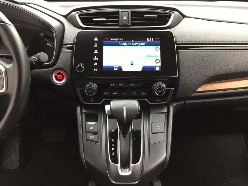 Red[Molten Lava Pearl] 2019 Honda CR-V Touring AWD Central Dash Options Photo in Sherwood Park AB