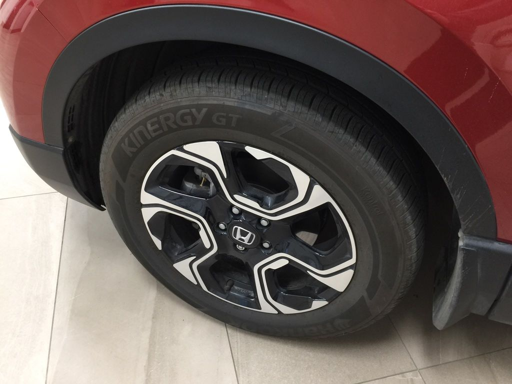Red[Molten Lava Pearl] 2019 Honda CR-V Touring AWD Left Front Rim and Tire Photo in Sherwood Park AB