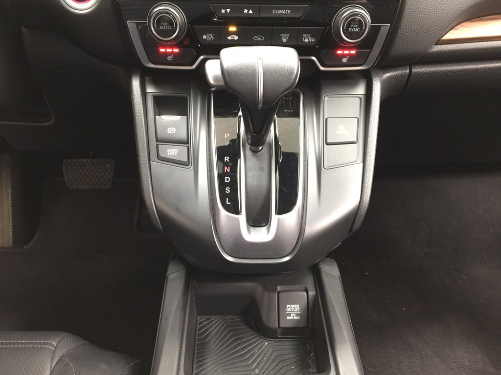 Red[Molten Lava Pearl] 2019 Honda CR-V Touring AWD Lower Dash Photo in Sherwood Park AB