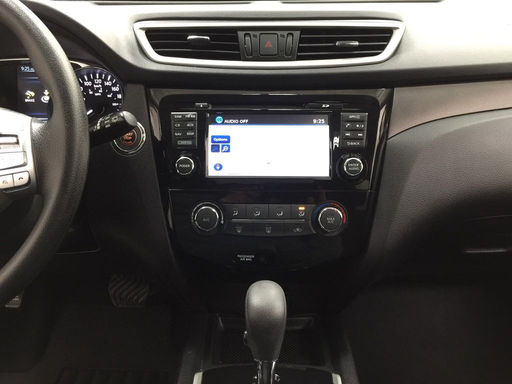 White[Glacier White] 2016 Nissan Rogue SV AWD Central Dash Options Photo in Sherwood Park AB