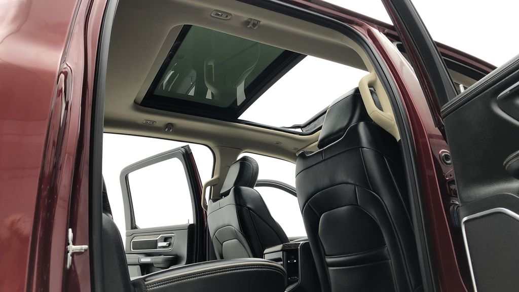 Red[Red Pearl] Lifted 2019 Ram 1500 Laramie 4WD - Pano Roof, 12in Display, Crew Cab Headliner / Equipment Photo in Winnipeg MB