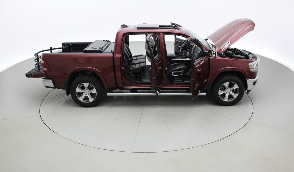 Red[Red Pearl] Lifted 2019 Ram 1500 Laramie 4WD - Pano Roof, 12in Display, Crew Cab Right Side Photo in Winnipeg MB