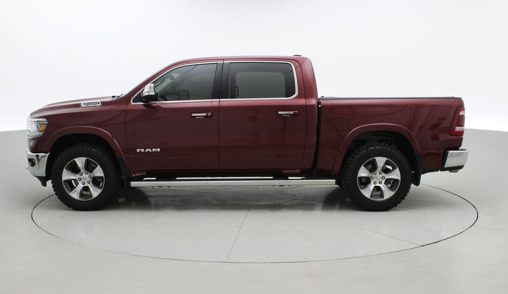 Red[Red Pearl] Lifted 2019 Ram 1500 Laramie 4WD - Pano Roof, 12in Display, Crew Cab Left Side Photo in Winnipeg MB