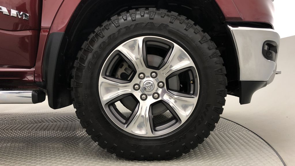 Red[Red Pearl] Lifted 2019 Ram 1500 Laramie 4WD - Pano Roof, 12in Display, Crew Cab Right Front Rim and Tire Photo in Winnipeg MB