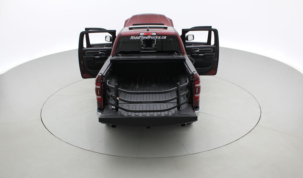 Red[Red Pearl] Lifted 2019 Ram 1500 Laramie 4WD - Pano Roof, 12in Display, Crew Cab Rear of Vehicle Photo in Winnipeg MB