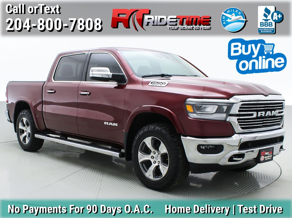 Red[Red Pearl] Lifted 2019 Ram 1500 Laramie 4WD - Pano Roof, 12in Display, Crew Cab