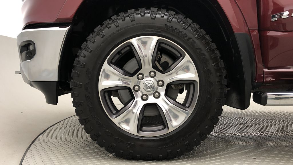 Red[Red Pearl] Lifted 2019 Ram 1500 Laramie 4WD - Pano Roof, 12in Display, Crew Cab Left Front Rim and Tire Photo in Winnipeg MB