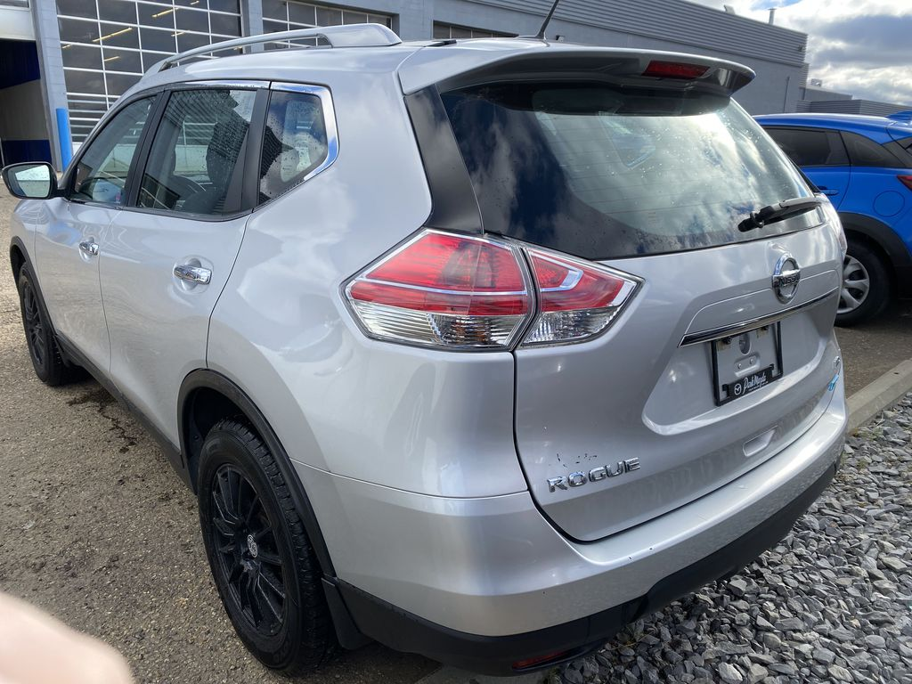 SILVER 2014 Nissan Rogue S AWD - Bluetooth, Backup Cam, Steering Wheel Controls  Driver's Side Door Controls Photo in Edmonton AB