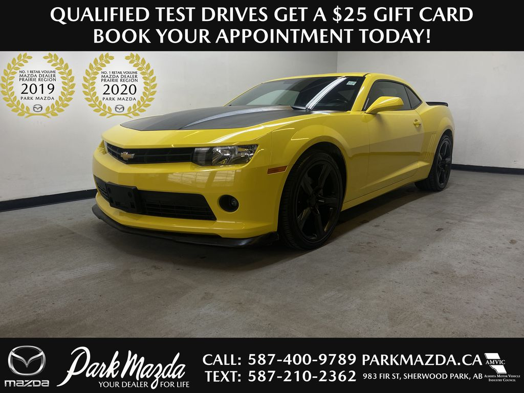 BRIGHT YELLOW 2015 Chevrolet Camaro 1LT - 6 Speed Manual, Power Front Seats, LCD Touchscreen