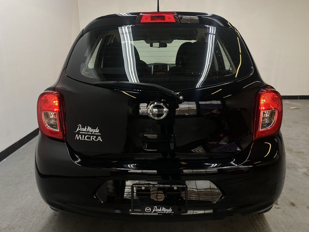 BLACK 2017 Nissan Micra S - Brake Assist, Cruise Control, AM/FM Radio Rear of Vehicle Photo in Edmonton AB