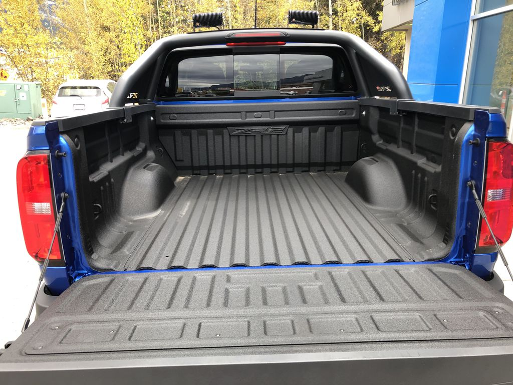 Blue[Kinetic Blue Metallic] 2020 Chevrolet Colorado ZR2 Trunk / Cargo Area Photo in Canmore AB