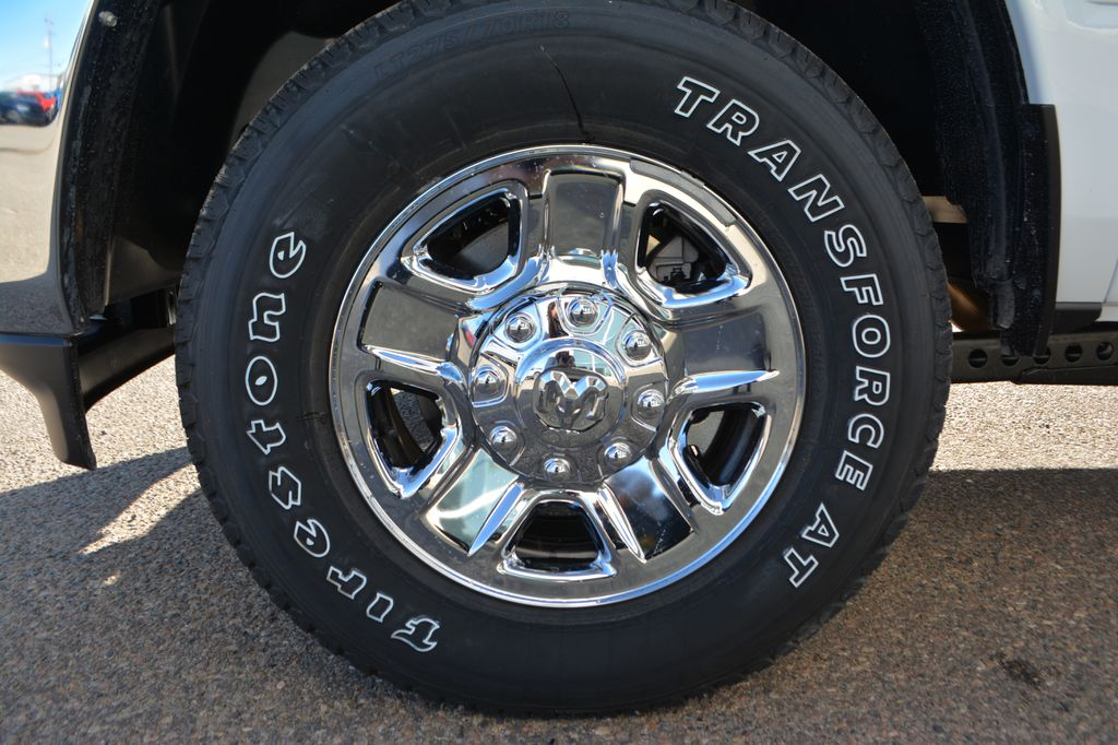 White[Bright White] 2020 Ram 2500 Left Front Rim and Tire Photo in Bonnyville AB