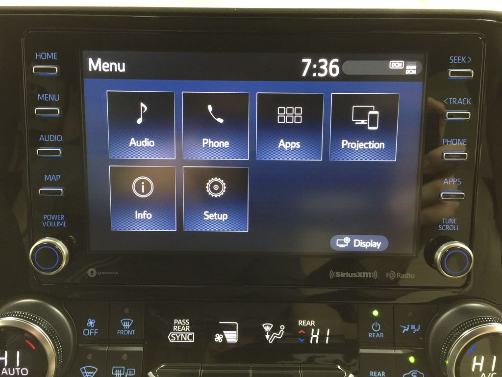 Blue[Blueprint] 2021 Toyota Highlander XLE Infotainment Closeup Photo in Sherwood Park AB